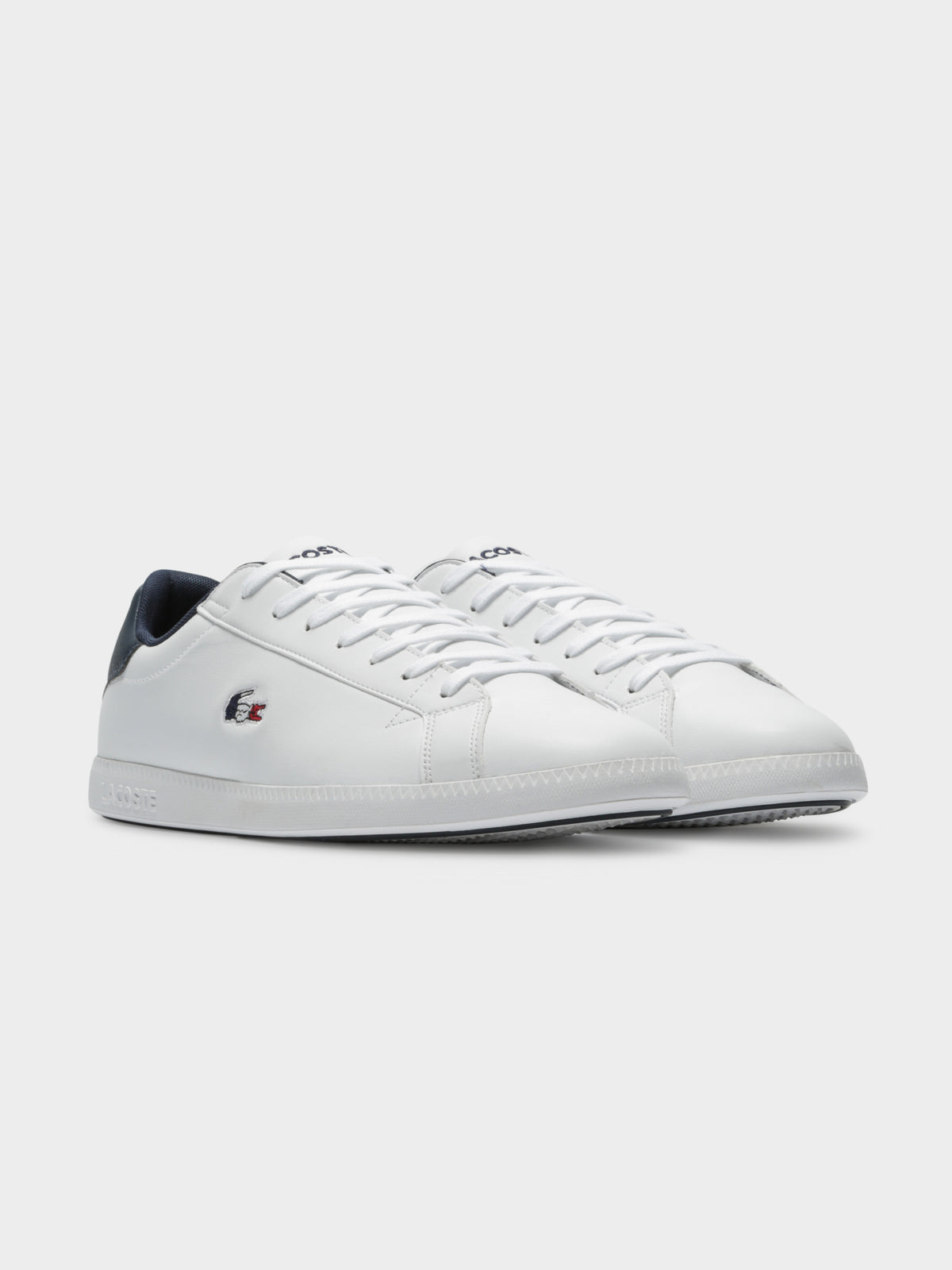 Mens Graduate TRI1 SMA Sneakers in White Navy & Red