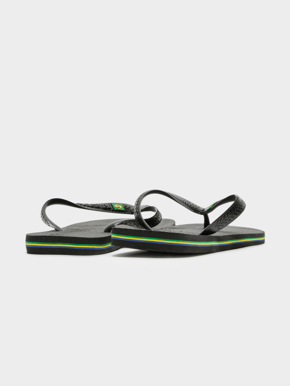 Mens Havaianas Brasil Thongs in Black