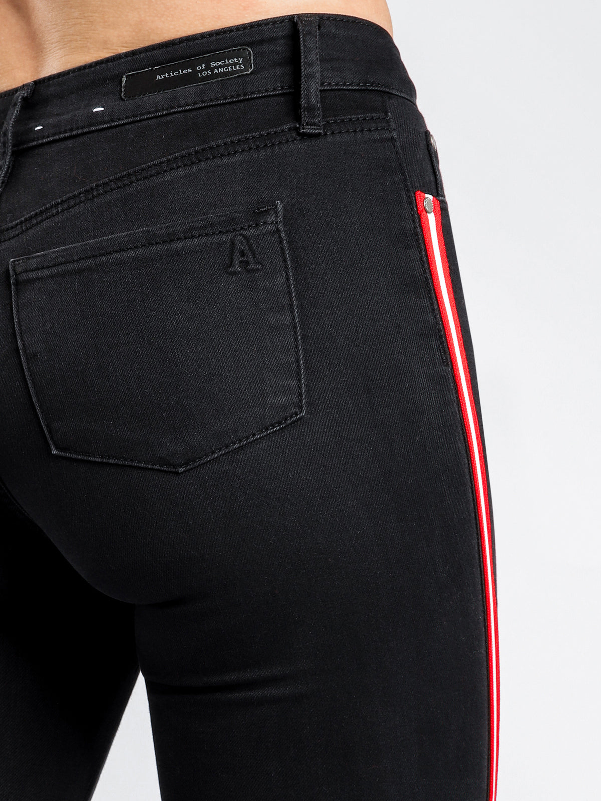 High Cisco Super Skinny Jeans in Black Out Denim