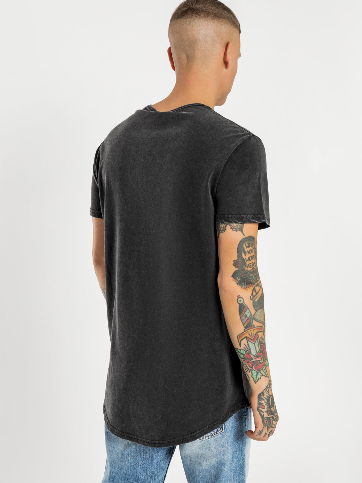 Unplugged T-Shirt in Washed Black