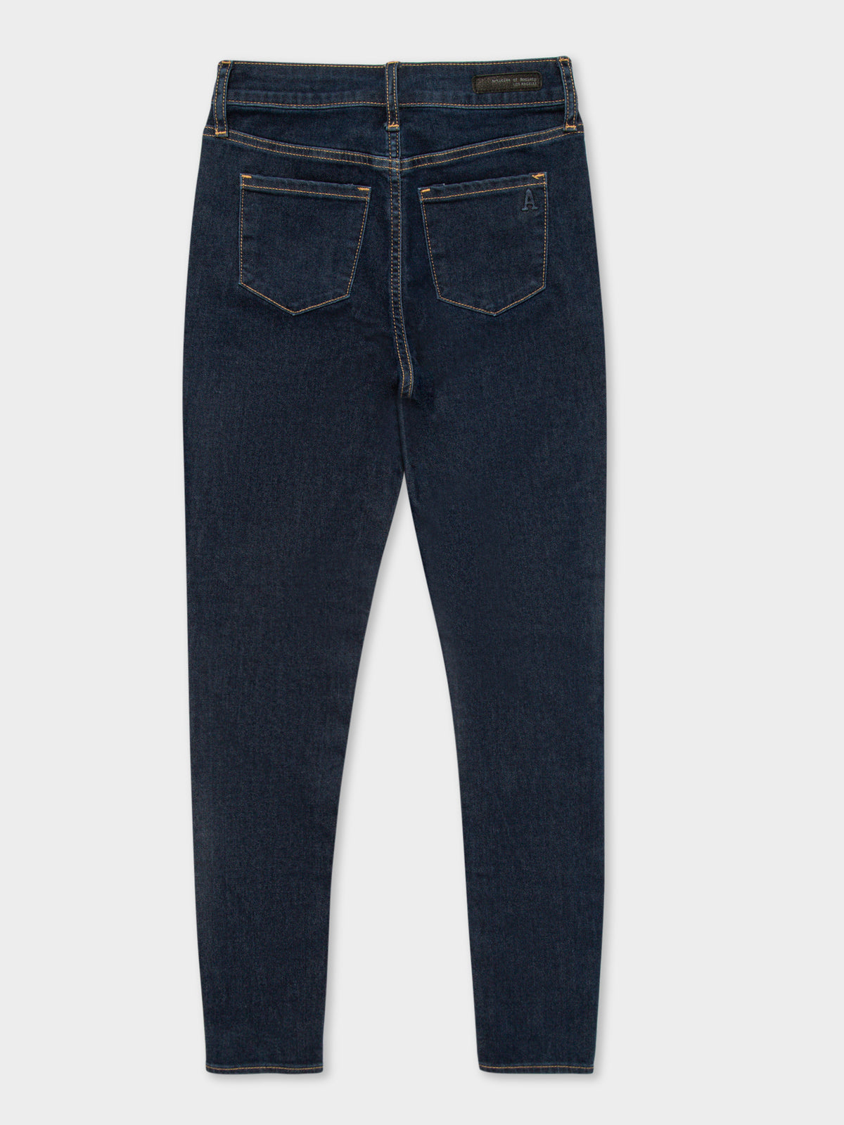 High Lisa Skinny Ankle Jeans in Dark Mid Wash Denim