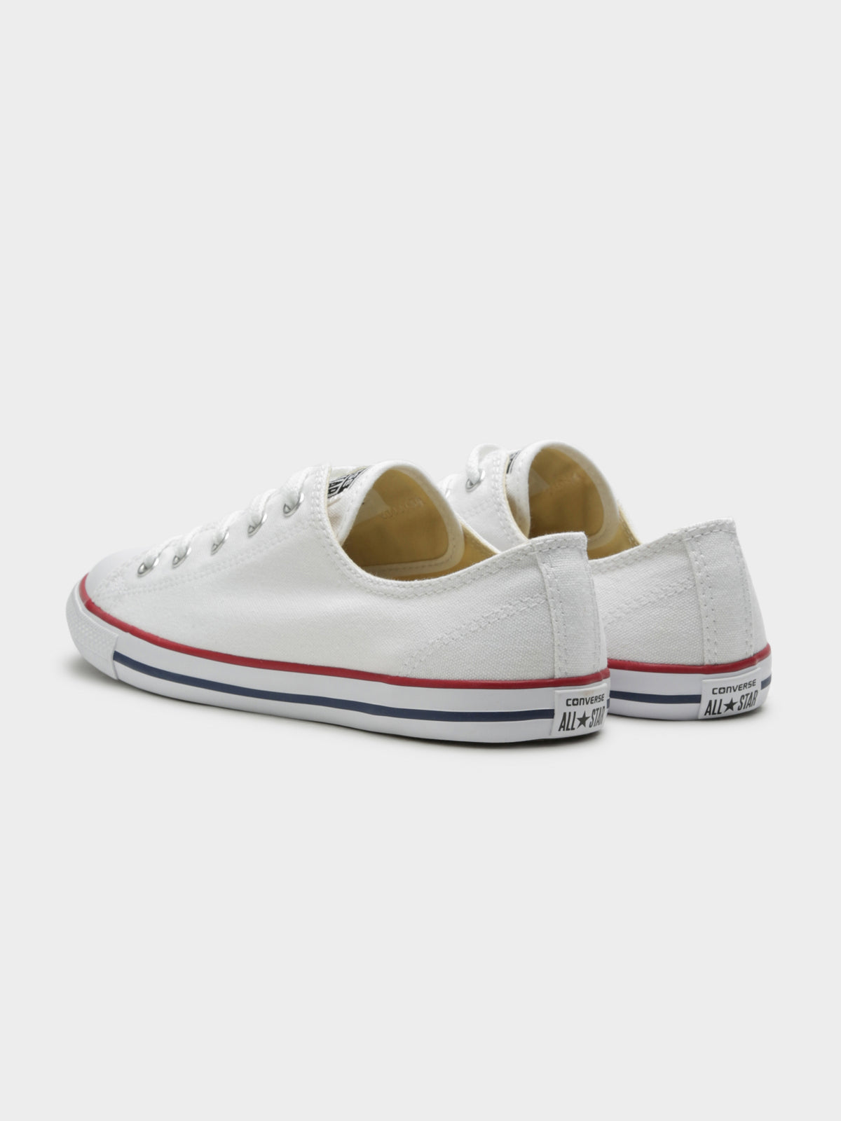 Womens Chuck Taylor Dainty Low-Top Sneakers in Optic White Canvas