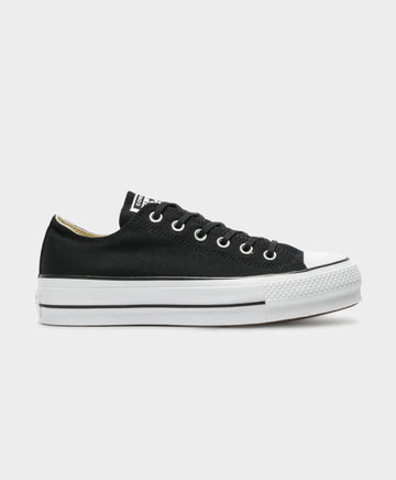 Chuck Taylor All Star Lift Low Top Sneakers in Black & White