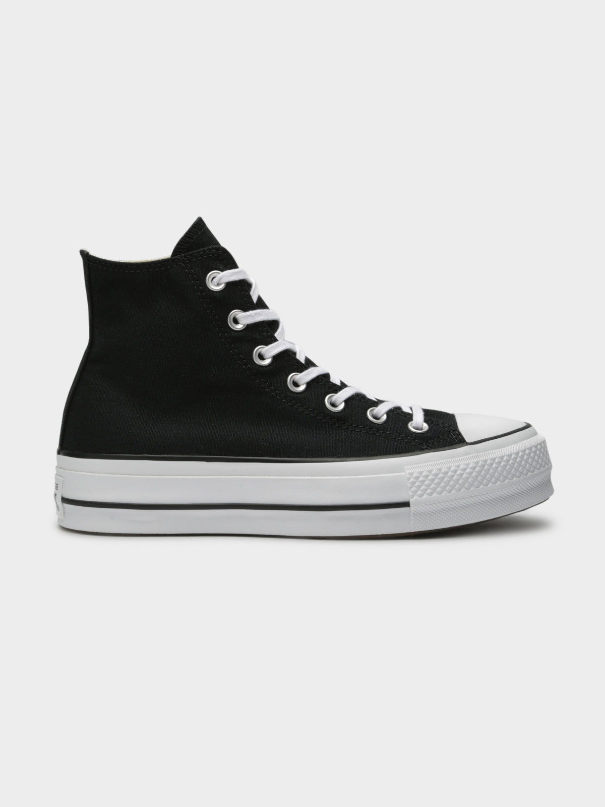 Womens Chuck Taylor All Star Lift Hi Platform Sneakers in Black Canvas
