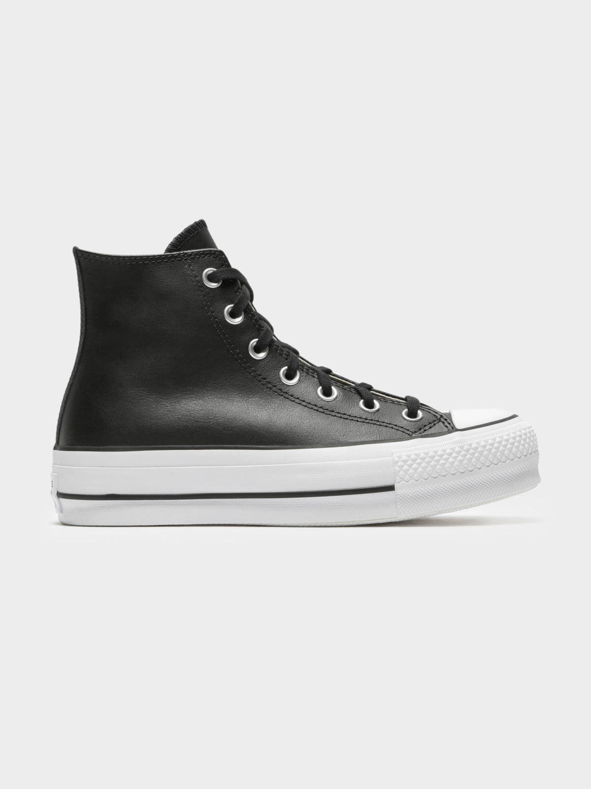 Chuck Taylor All Star Lift Clean Hi -Top Sneakers in Black