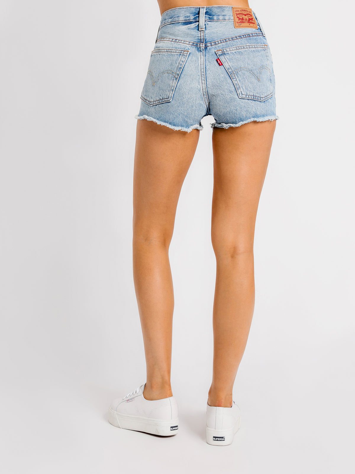 501 High Rise Shorts in Bring to Light Denim