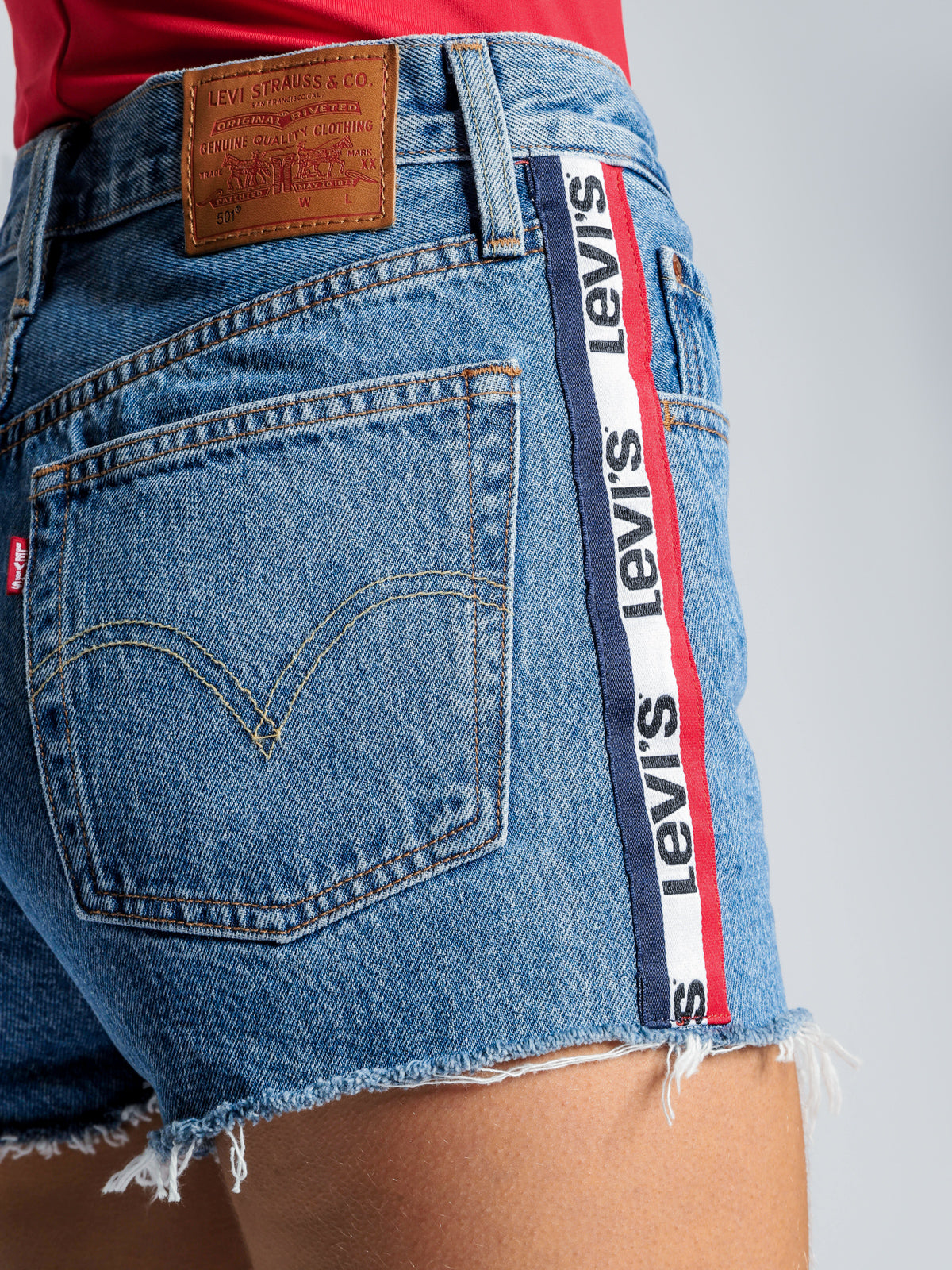 501 High Rise Shorts in Spectator Sport Denim
