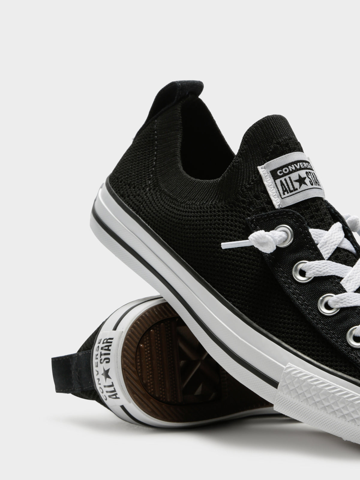 Chuck Taylor All Star Shoreline Knit Slip-On Sneakers in Black