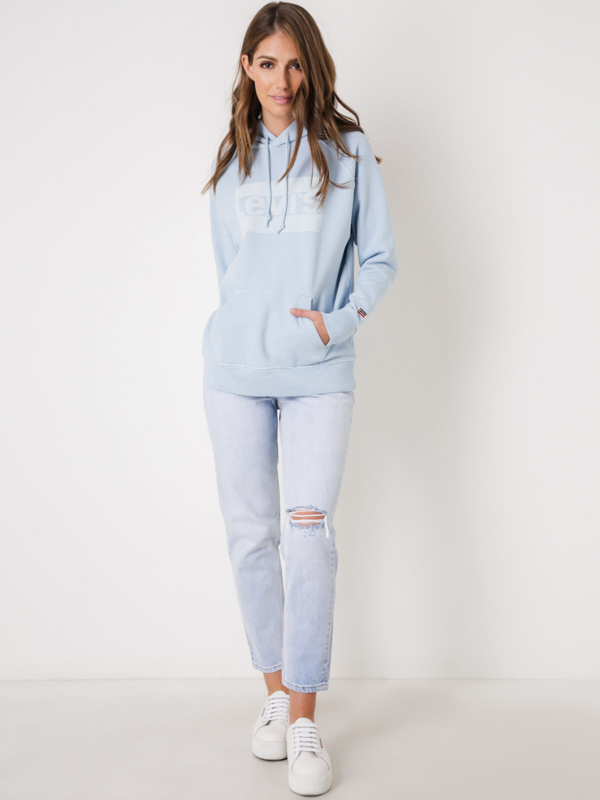 High Rise Mom Jeans in Blue Donna Martin Denim