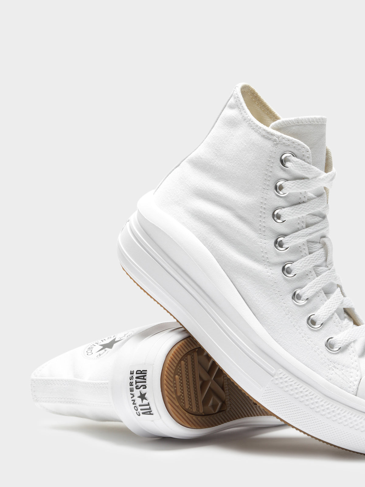 Womens Chuck Taylor Move Platform High Top Sneakers in All White