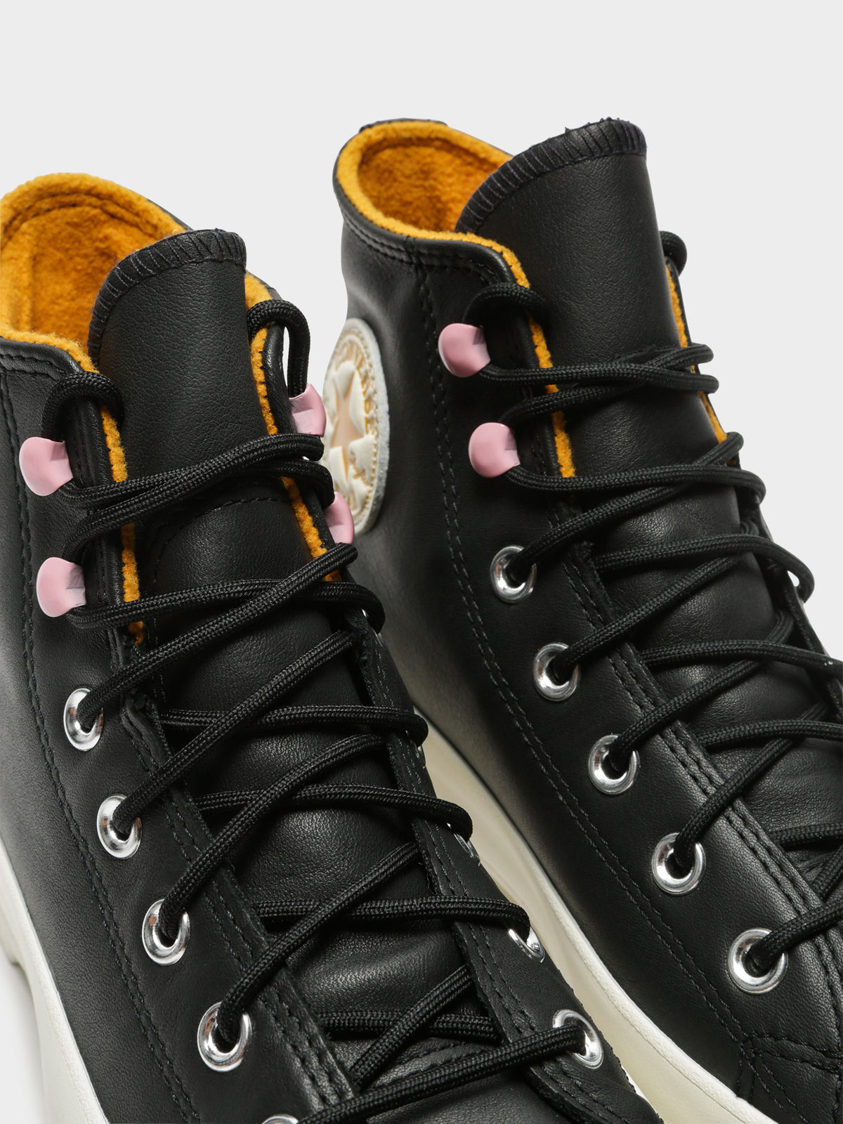Womens Chuck Taylor All Star Lugged Winter High Top Sneakers in Black & Staffron Yellow