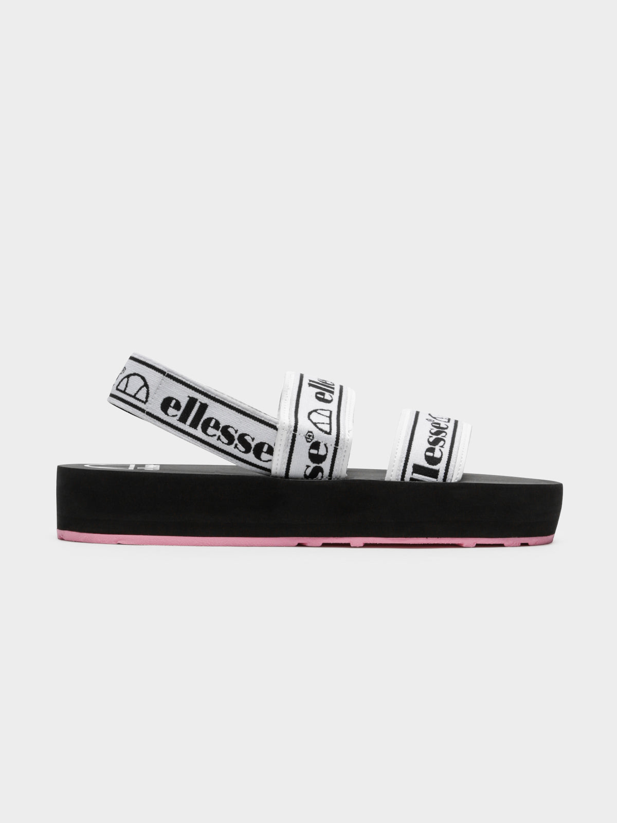 Giglio Sandals in White Black & Pink