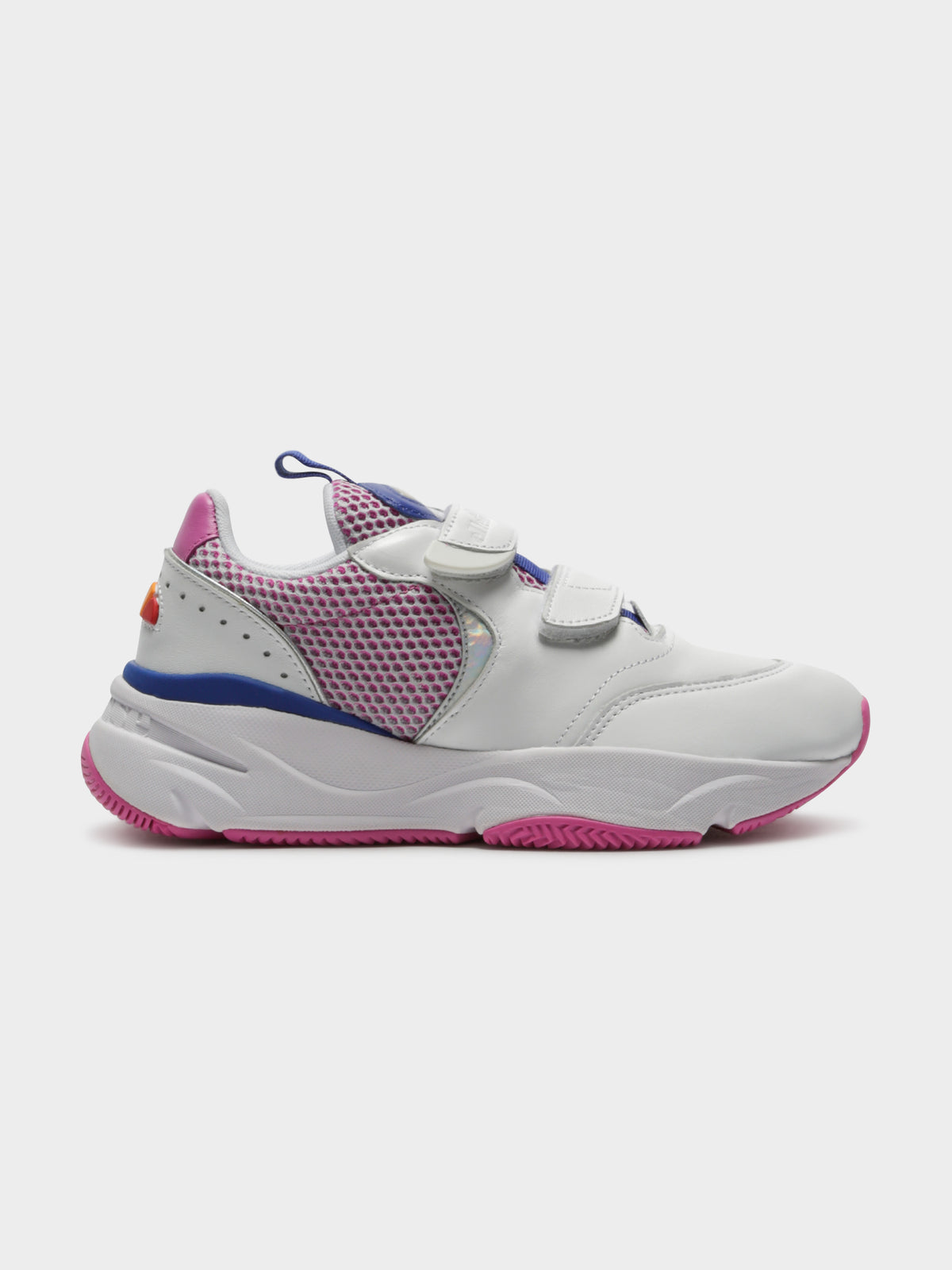 Cesana Velcro Sneakers in White Bold Blue & Super Pink