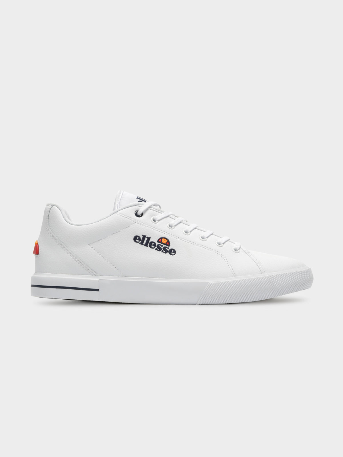 Taggia Sneakers in White & Dark Blue