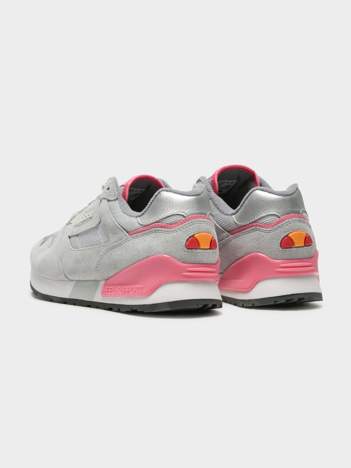 Womens 147 Suede Sneakers in Grey & Pink