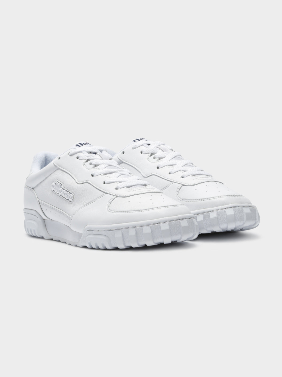 Tanker Lo Leather Sneakers in White