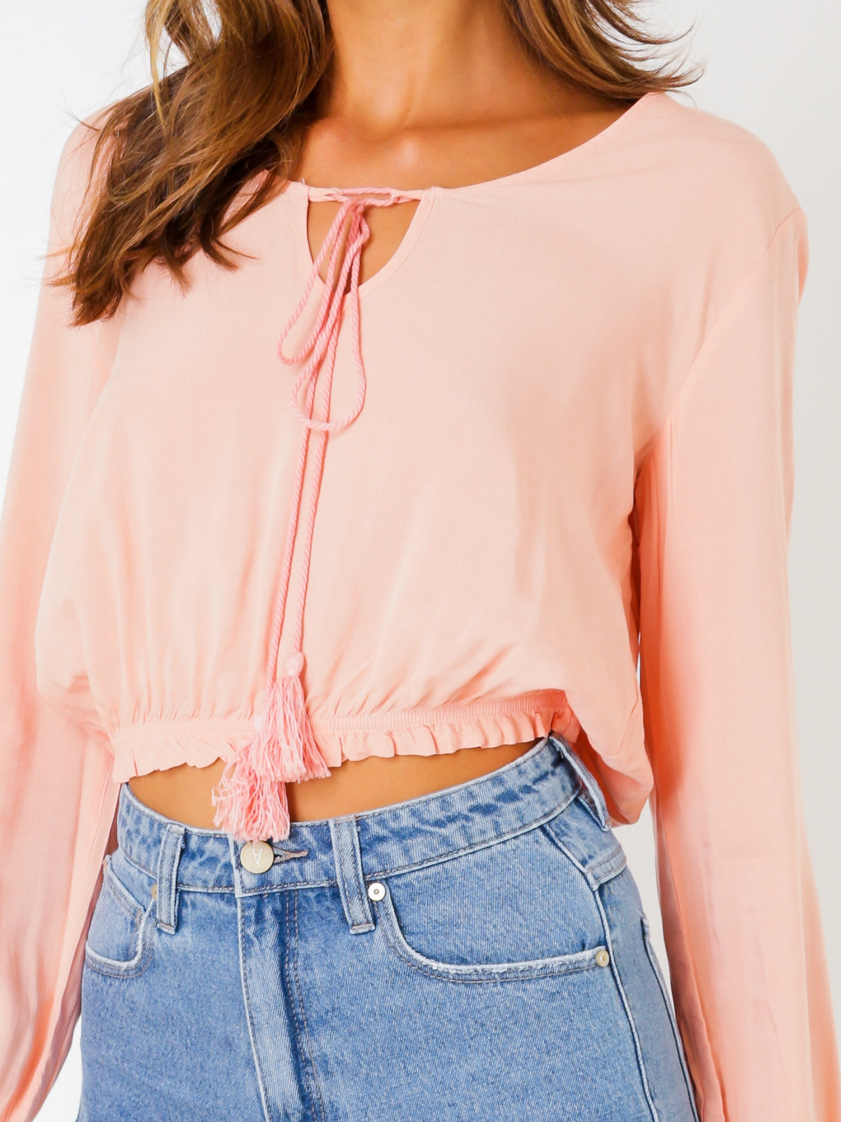 Norah Top in Dusty Pink