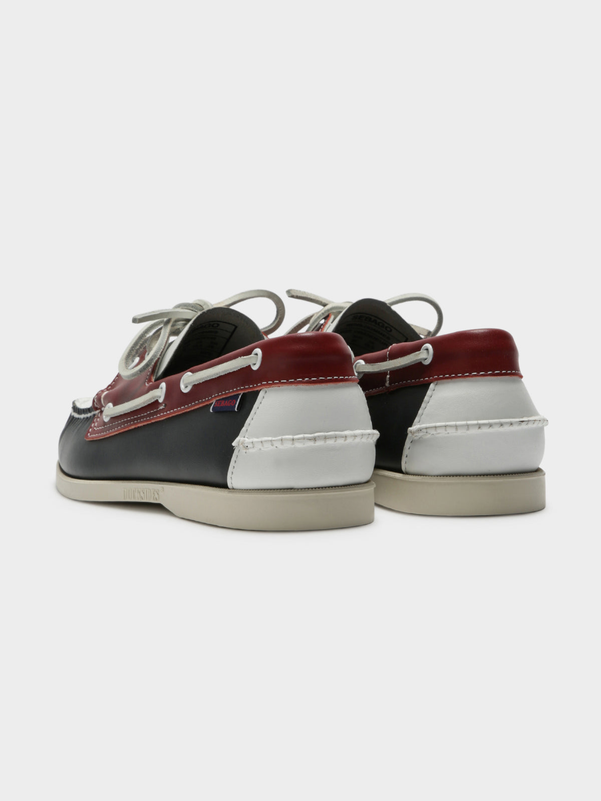 Mens Docksides Portland Spinnaker Boat Shoes in Navy Red & White