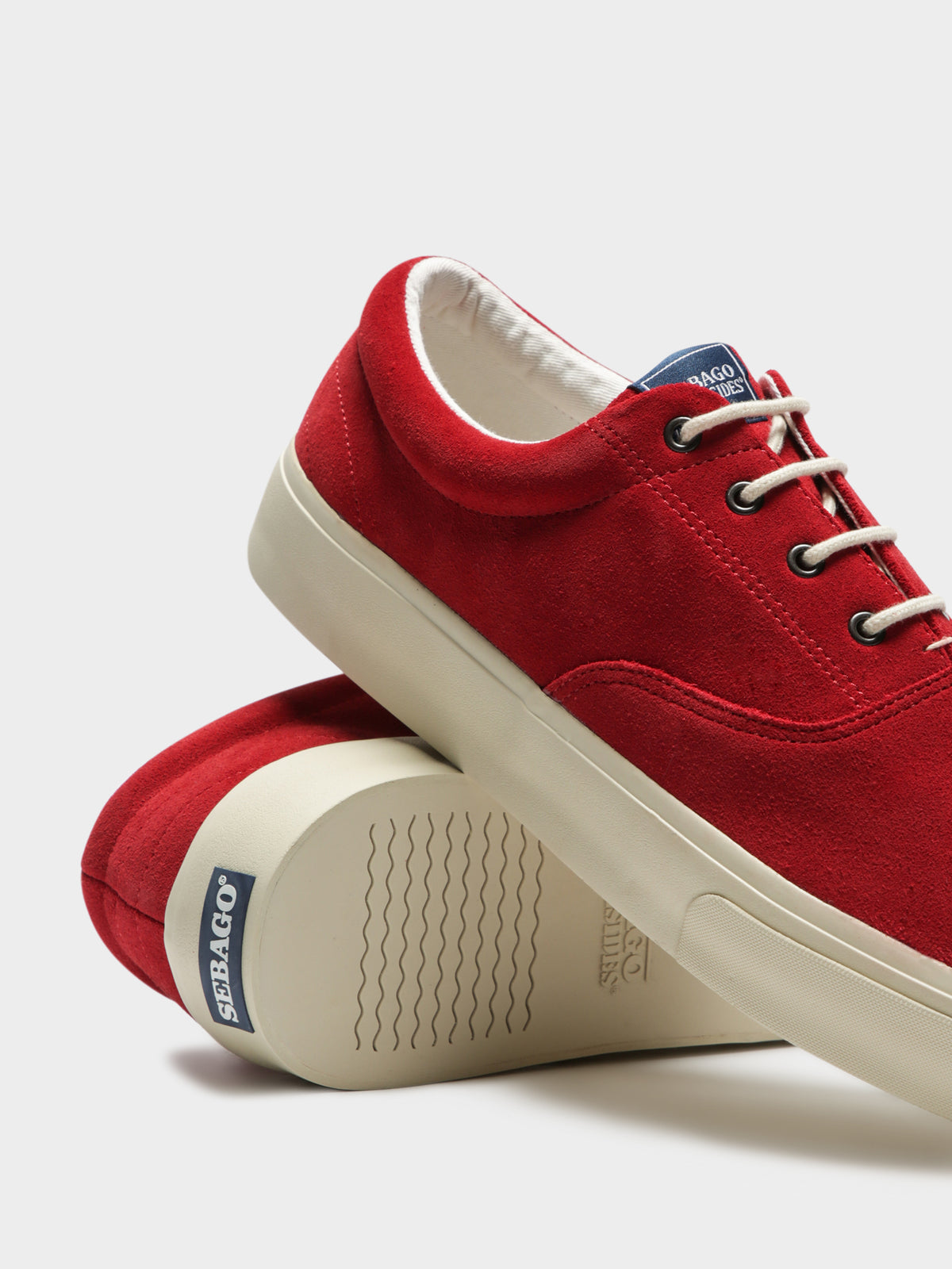 Docksides John Suede Plimsoll Sneakers in Red