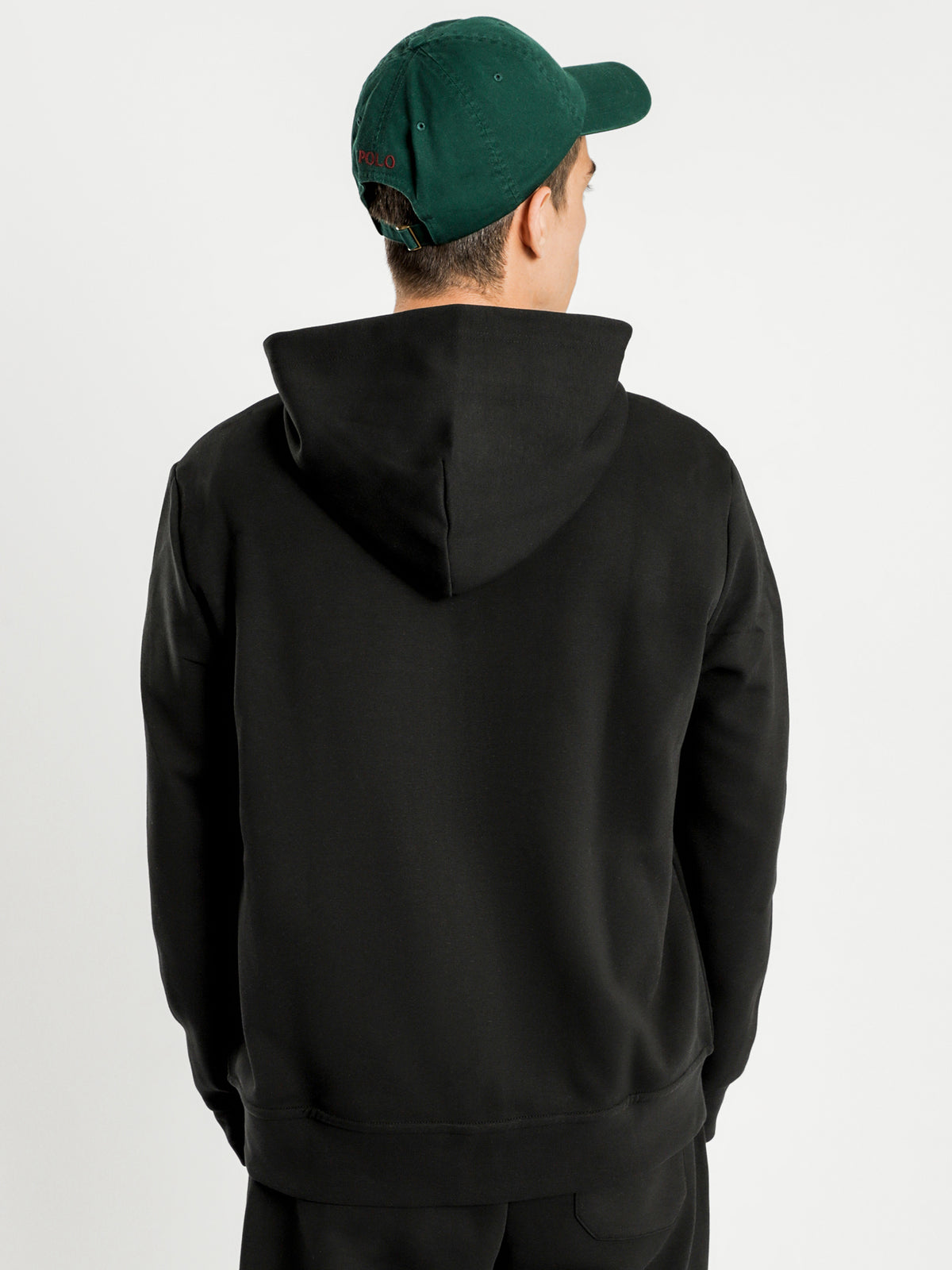Double Tech Hooded Jacket in Black