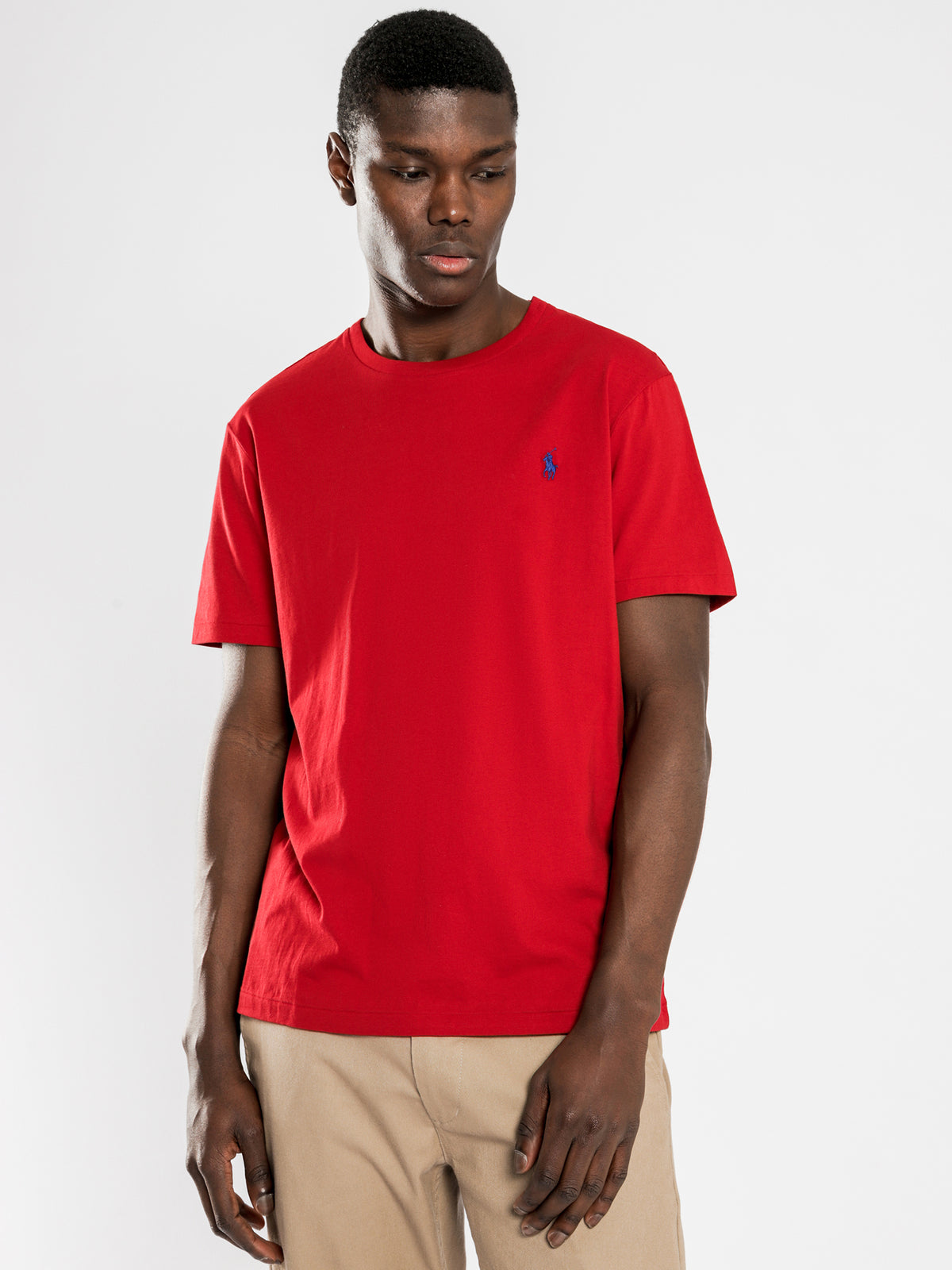 Polo Slim Fit T-Shirt in Red