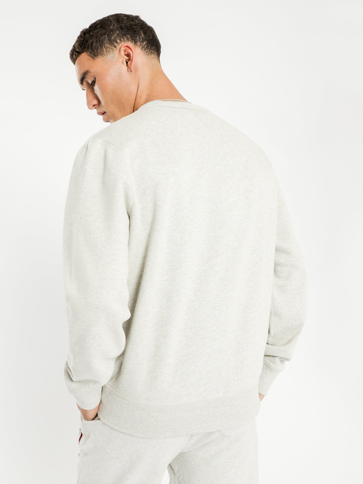 Fleece Long Sleeve Knit in Grey
