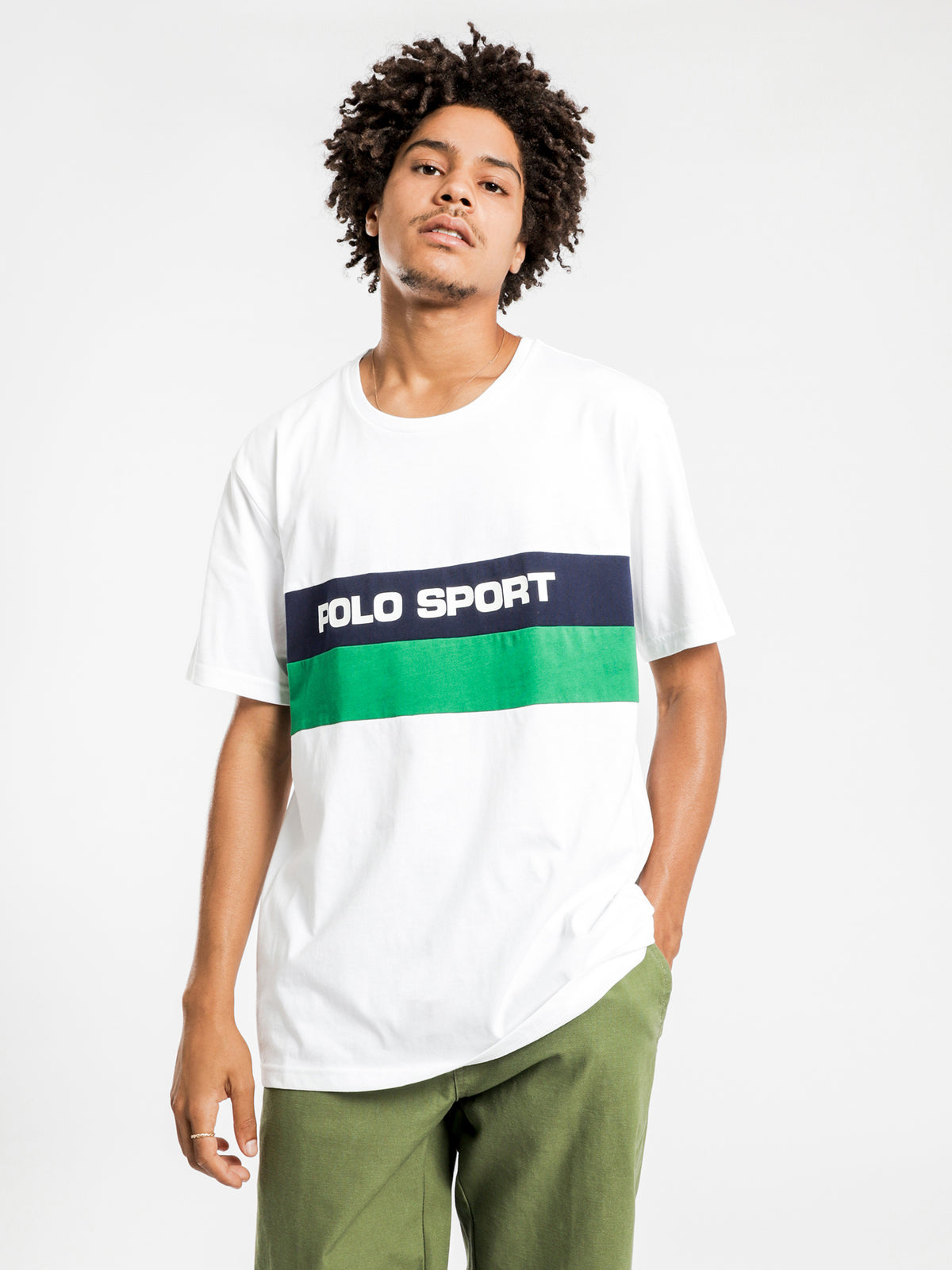 Polo Sport Short Sleeve T-Shirt in White