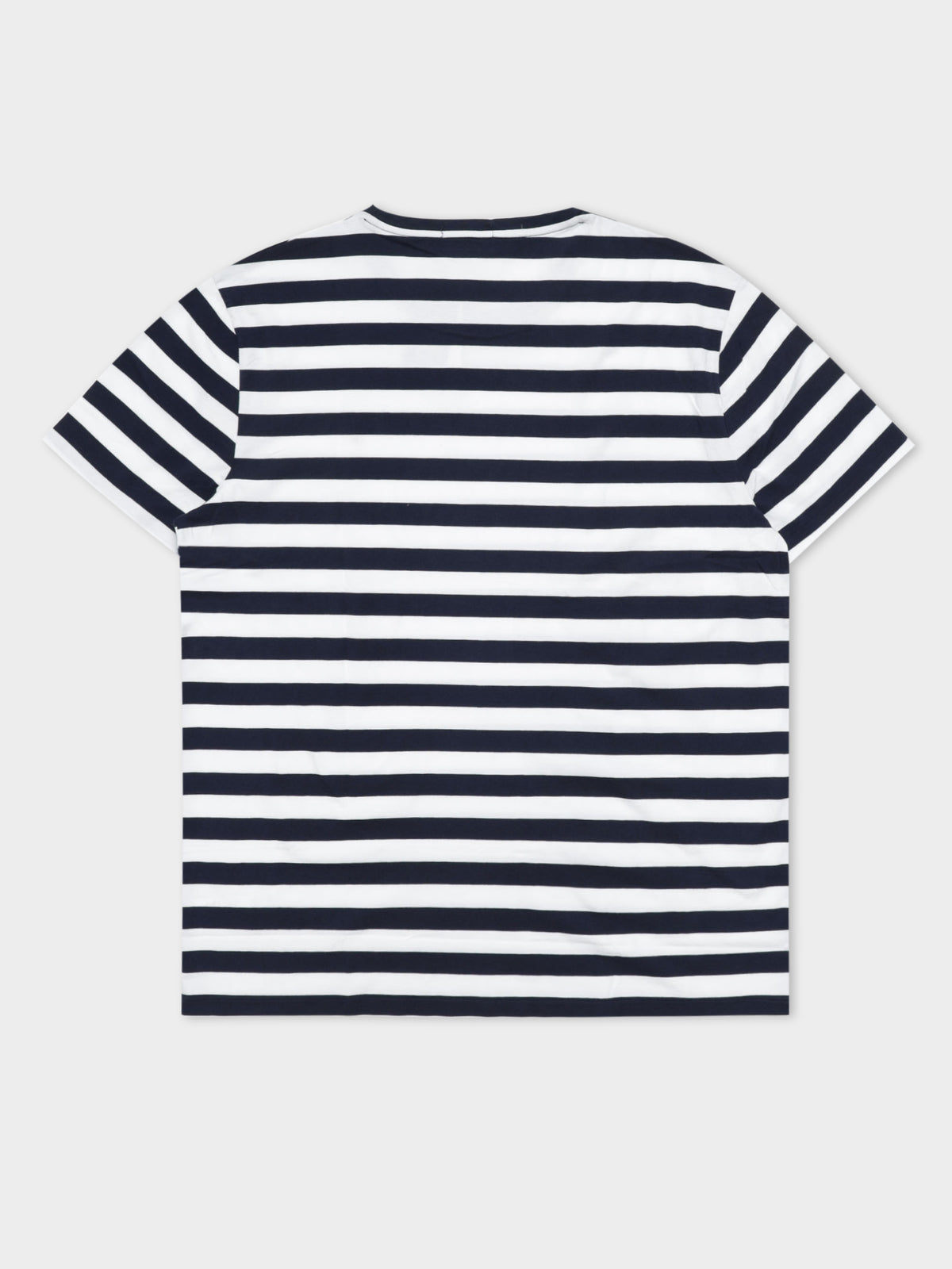 Stripe Short Sleeve T-Shirt in Navy & White