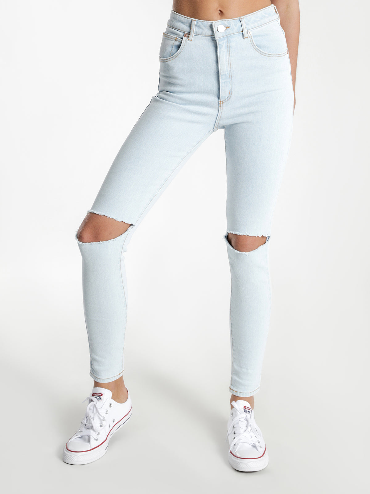 A High Skinny Ankle Basher in Baltimore Blue Denim