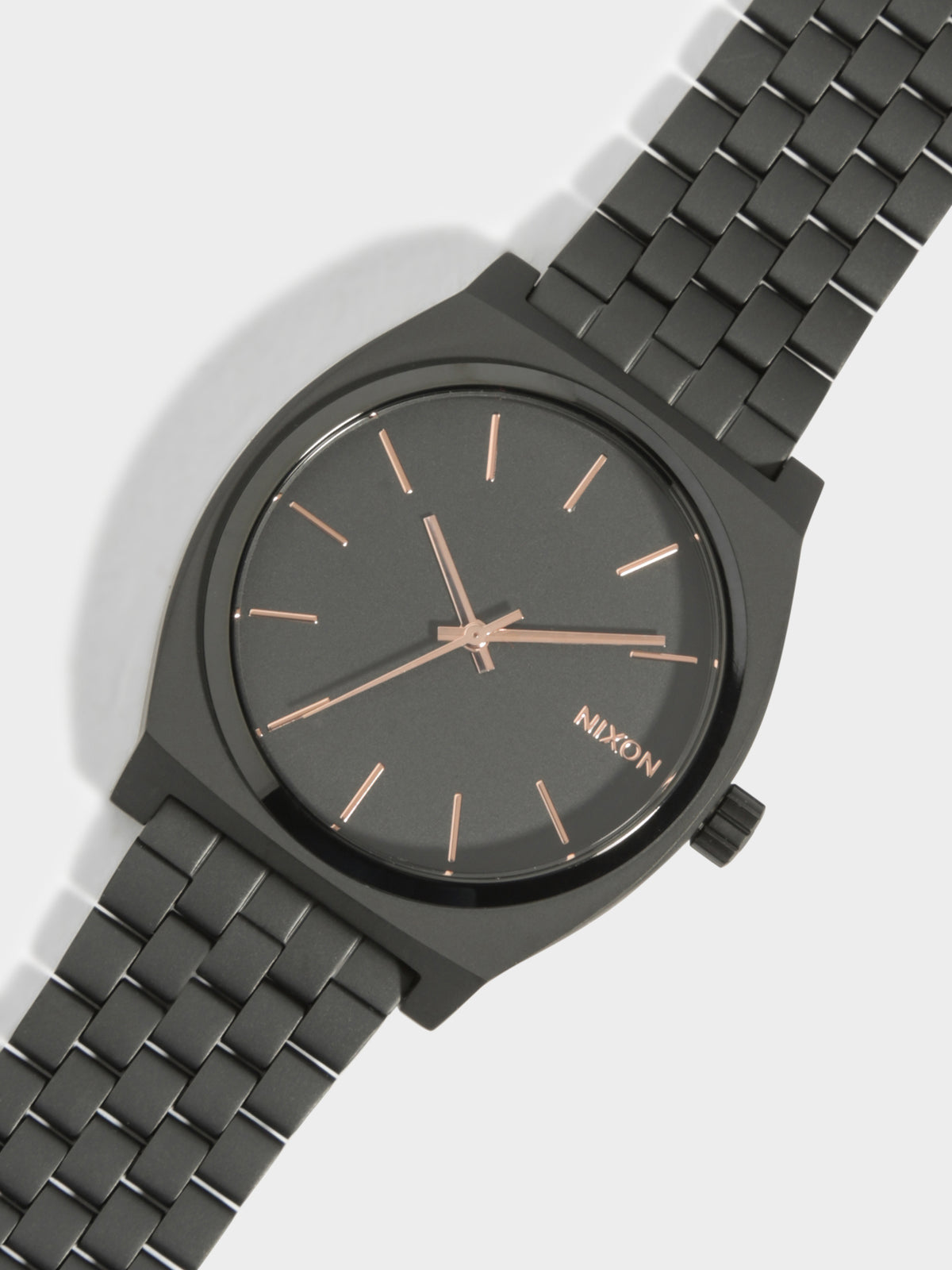 Time Teller 37mm Original Analogue Watch in Black & Rose Gold