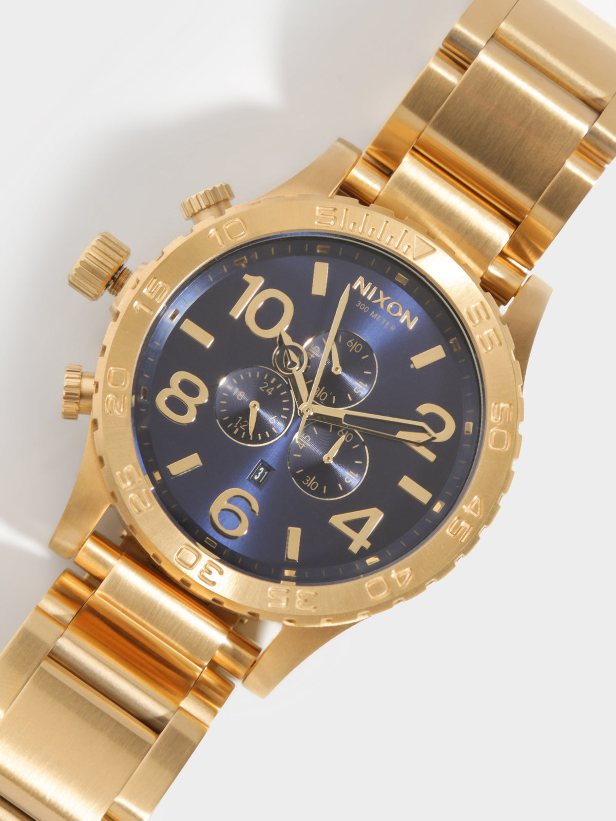 51-30 Chrono Watch in Gold & Navy