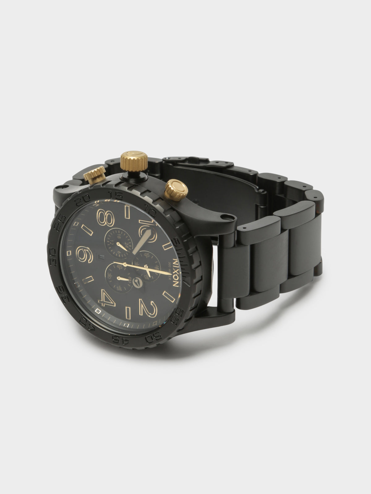 51-30 Chrono 51mm Oversized Chronograph Watch in Matte Black