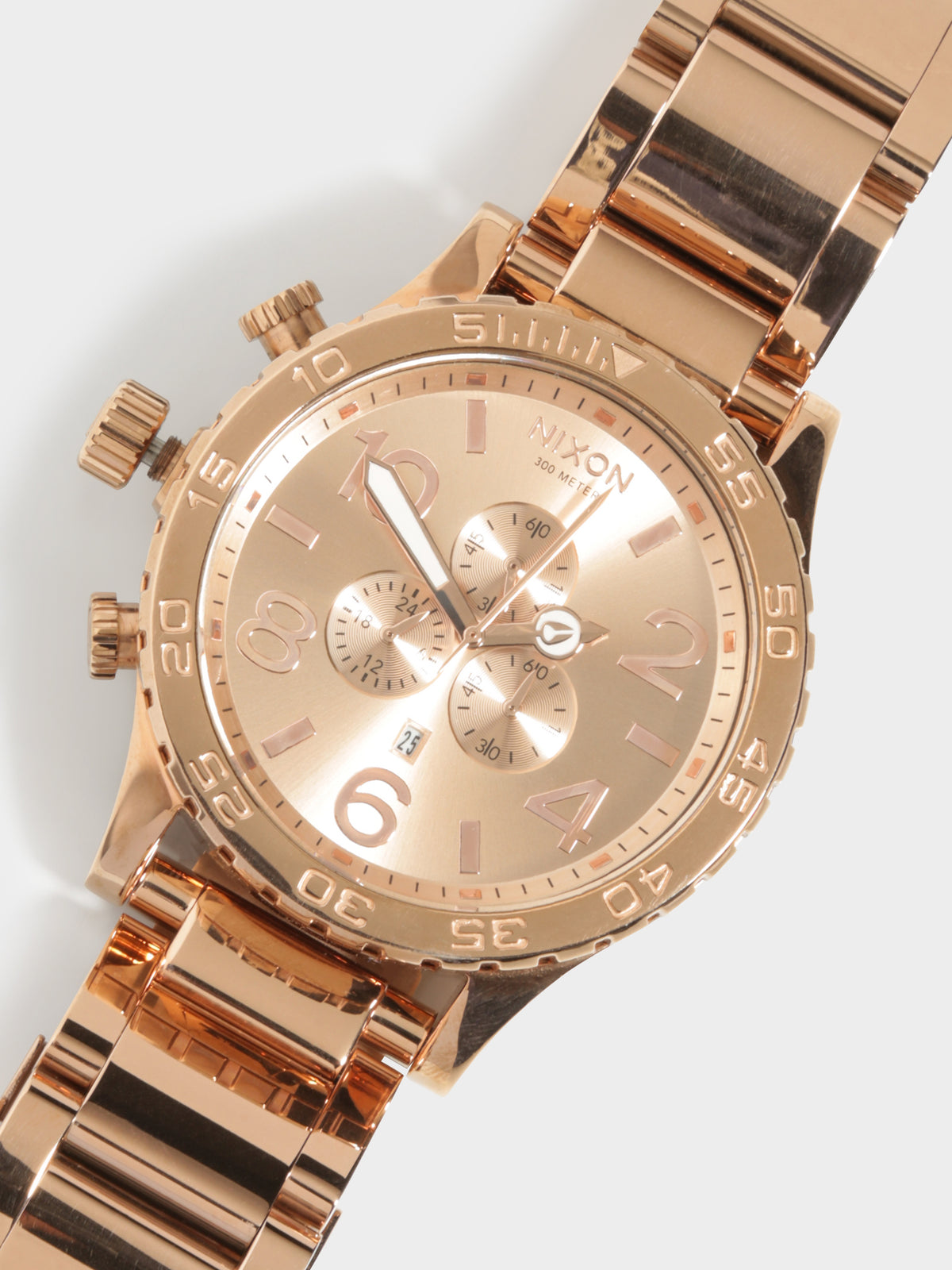 51-30 Chrono 51mm Oversized Chronograph Watch in Rose Gold