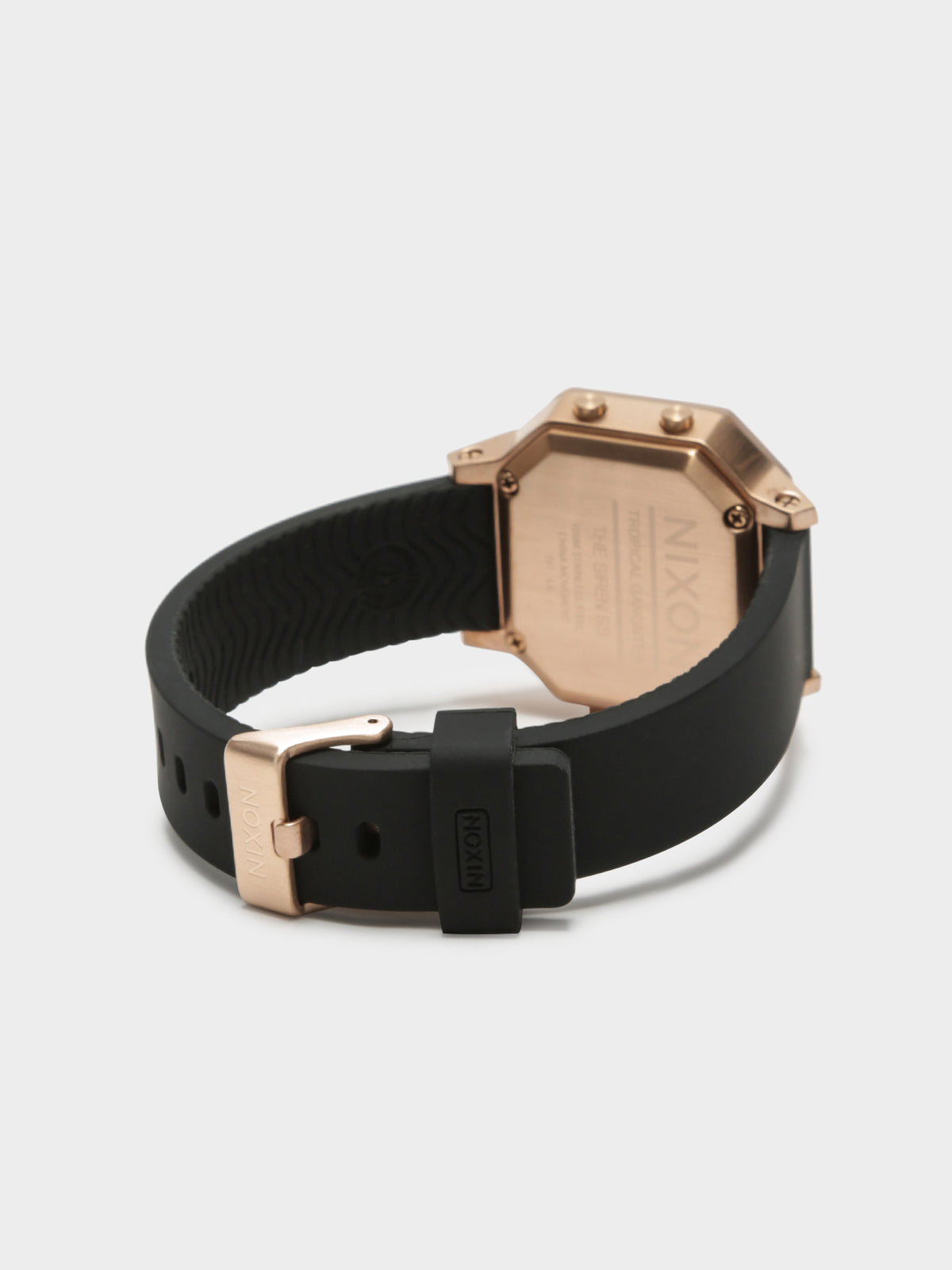 Siren SS Digital Watch in Rose Gold & Black