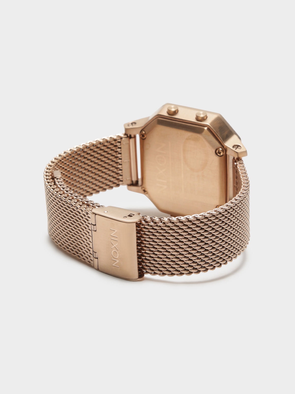Siren SS Milanese Digital Watch in Rose Gold