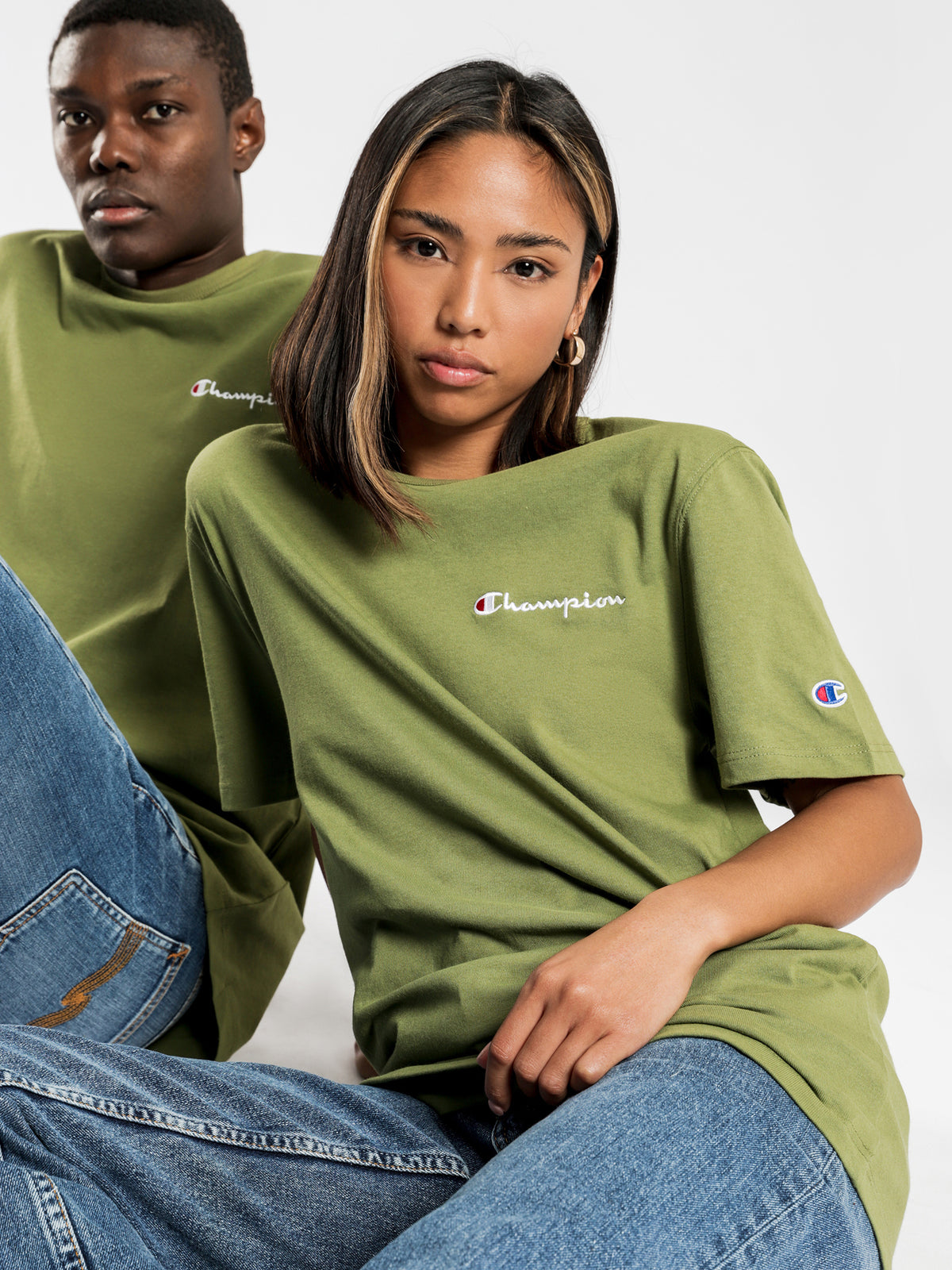 Heritage T-Shirt in Olive Khaki