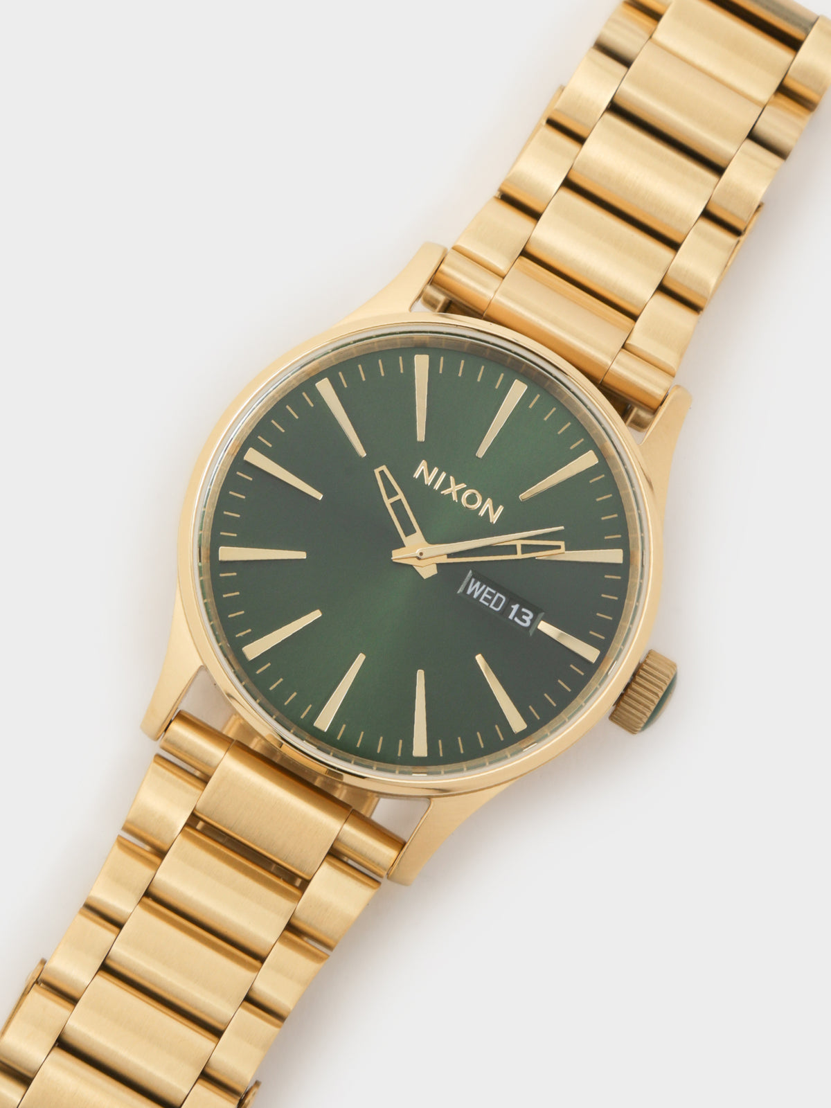 Sentry Stainless Steel Watch in Gold & Green