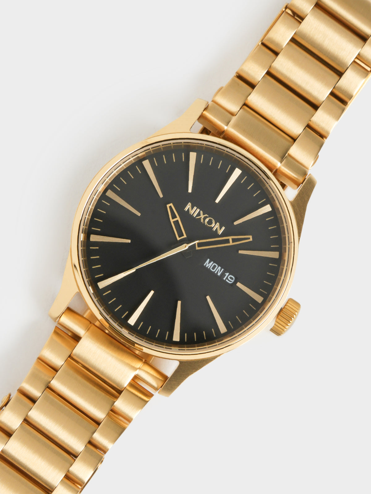 Mens Sentry SS Watch in All Gold & Black
