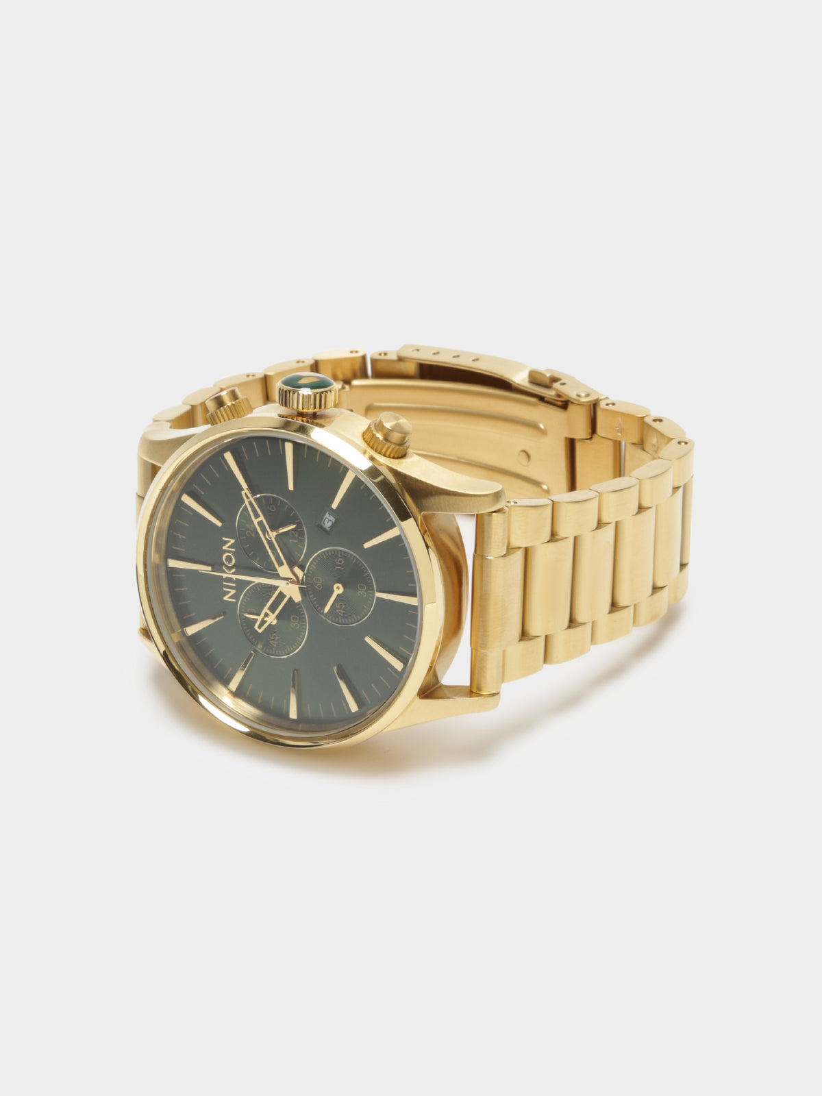 Sentry Chrono Watch in Gold & Green