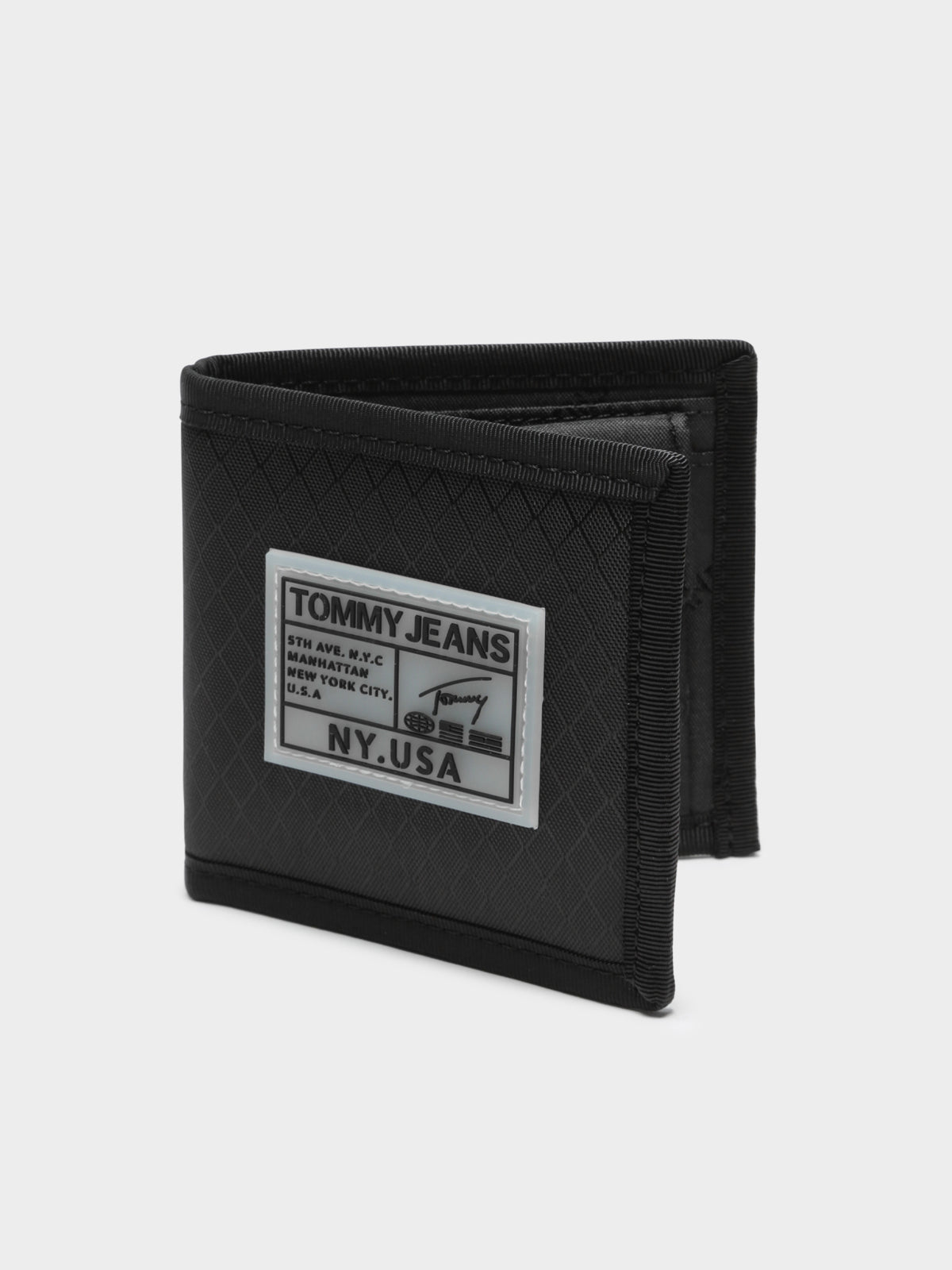 College CC & Coin Pocket Wallet in Black