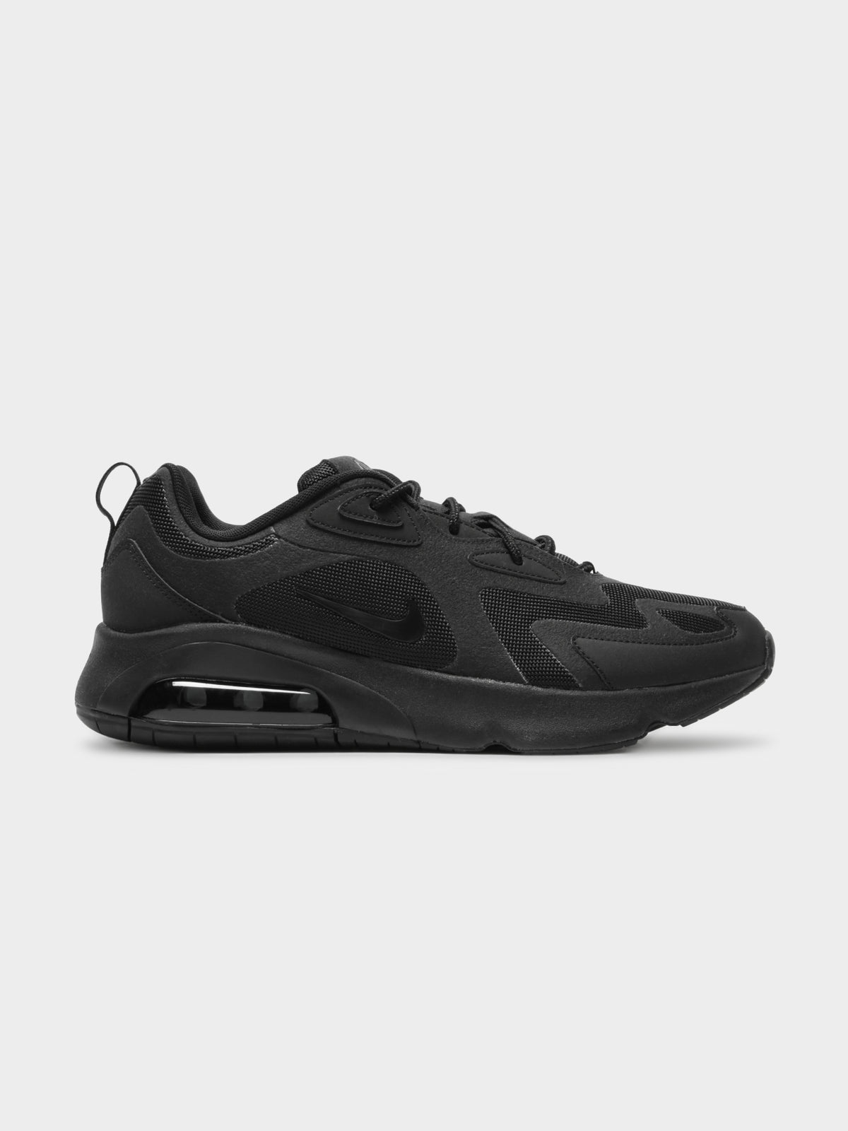 Mens Nike Air Max 200 Sneakers in Black