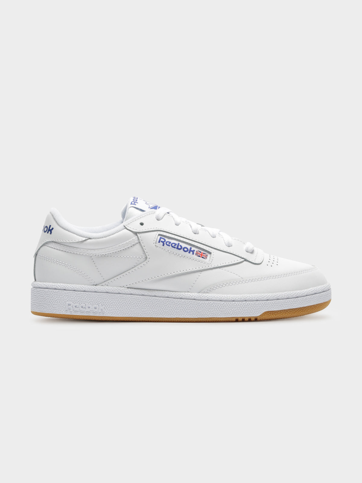 Unisex Club C 85 Sneakers in White & Blue
