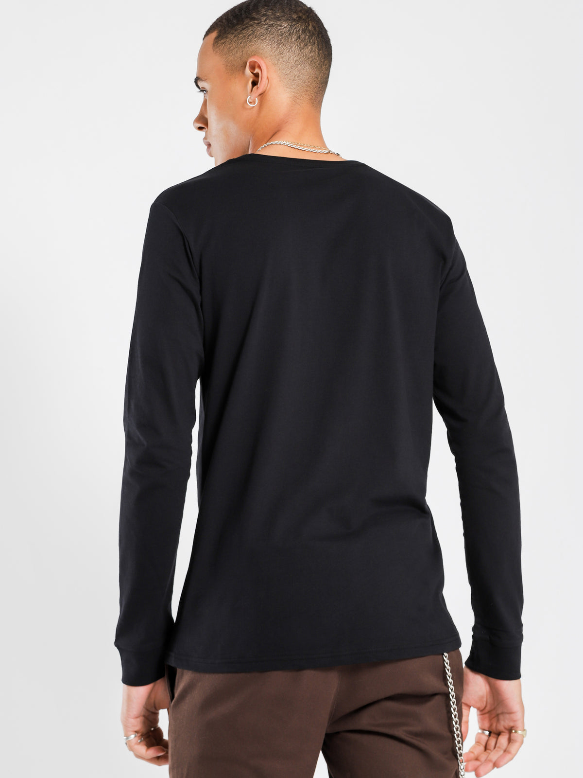 Contra Long Sleeved Shirt in Black