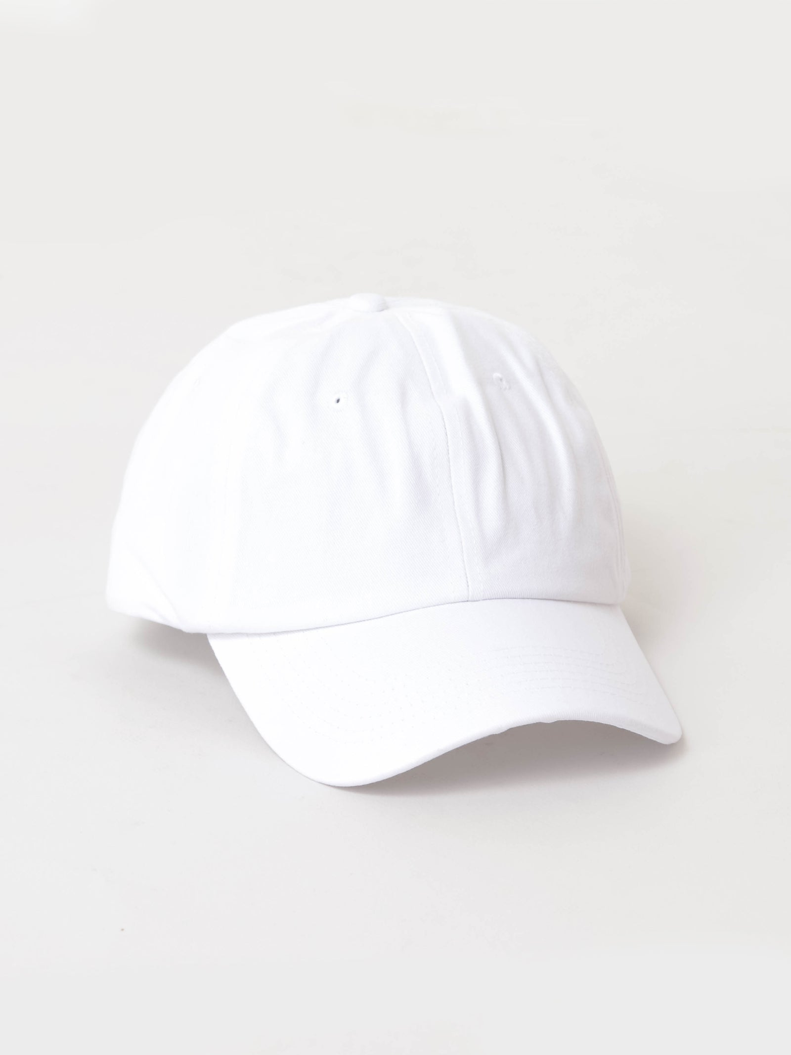 Basic Dad Cap in White