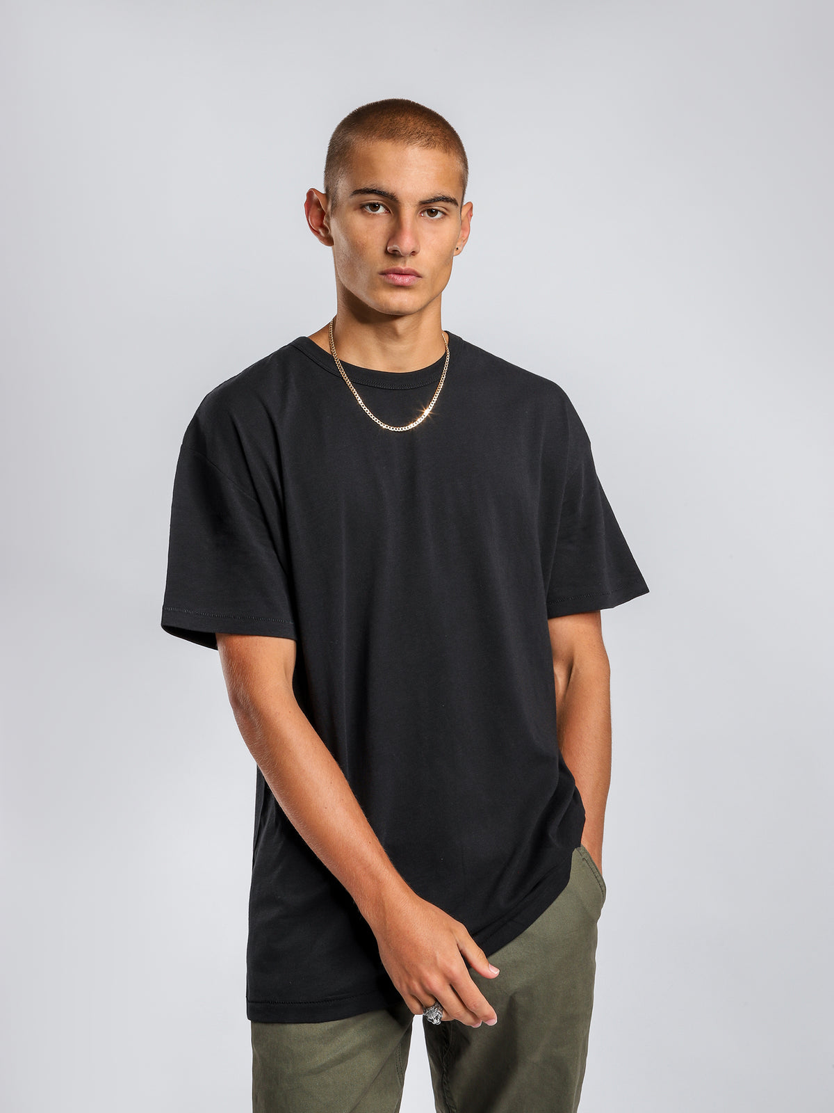 Organic Oversized T-Shirt in Black