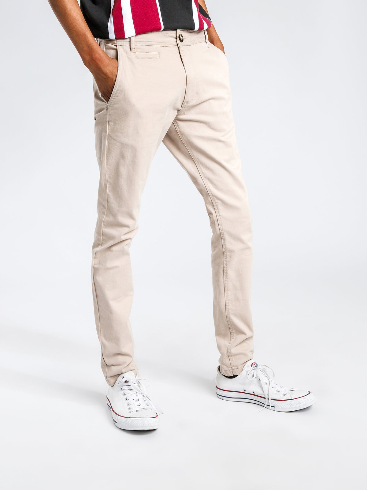 Linden Chino Pants in Stone