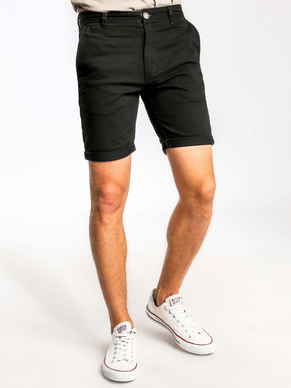 Malabar Chino Shorts in Black
