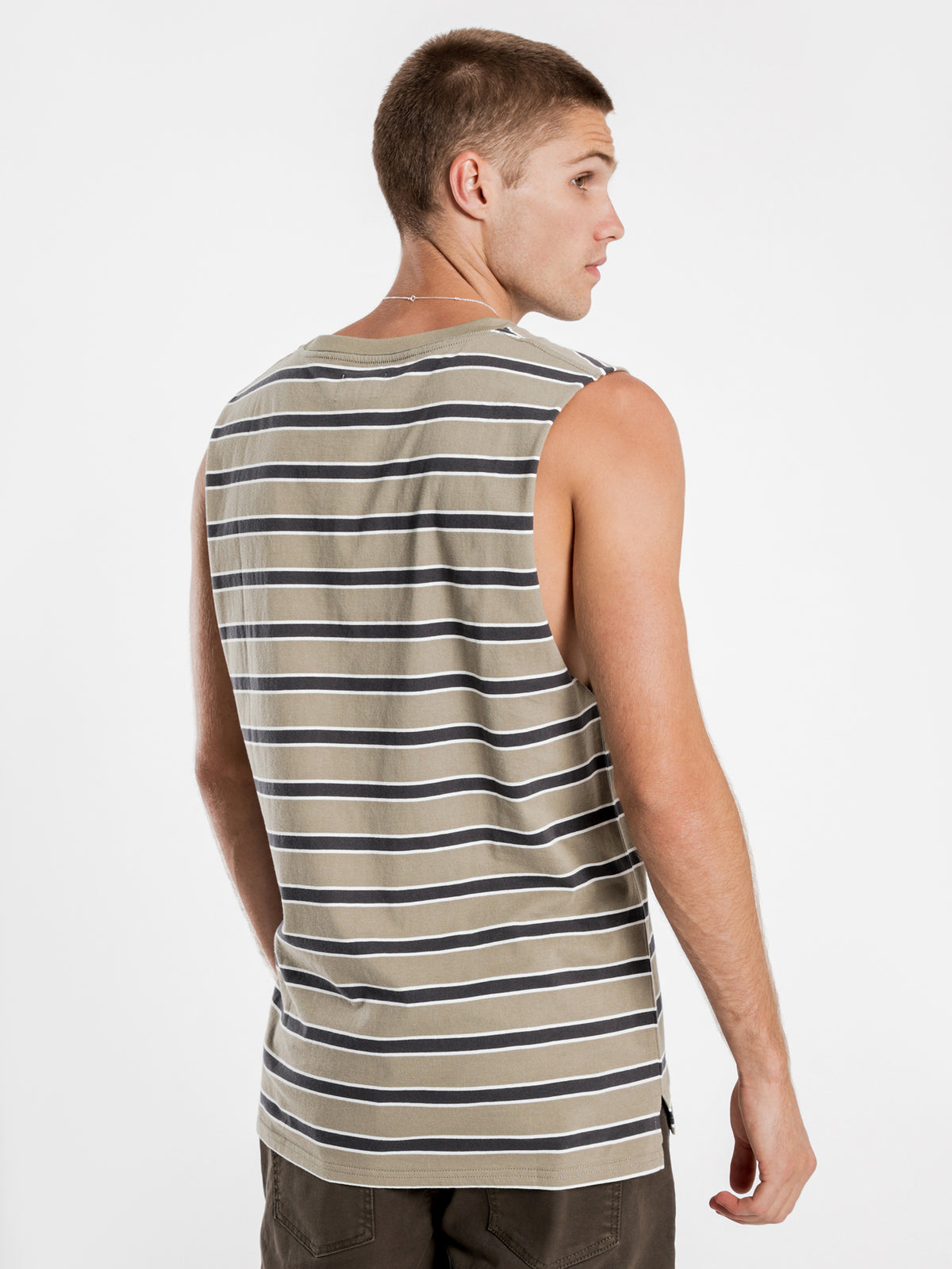 Southport Muscle in Olive Stripe