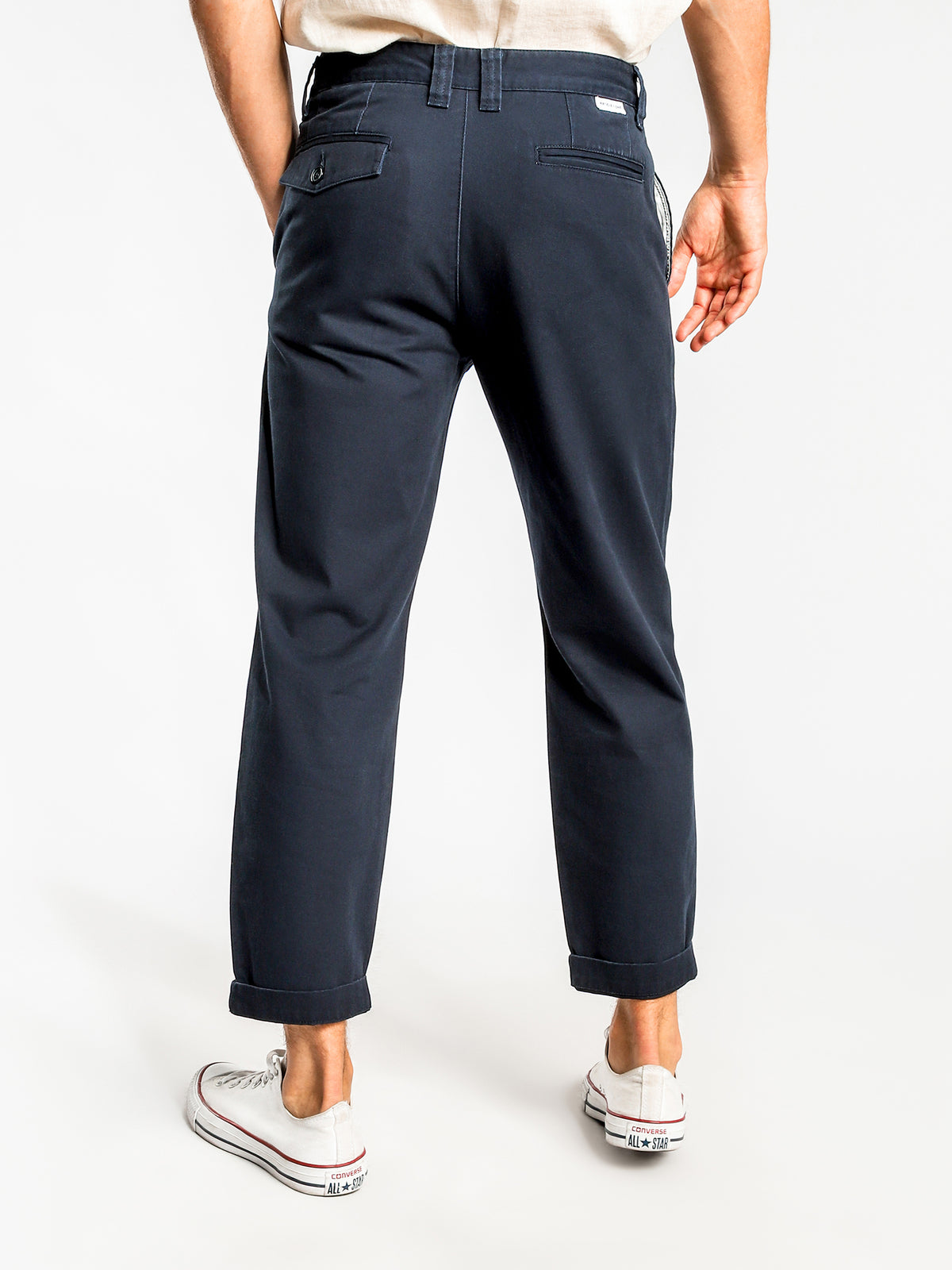 Beau Pleated Pants in Navy