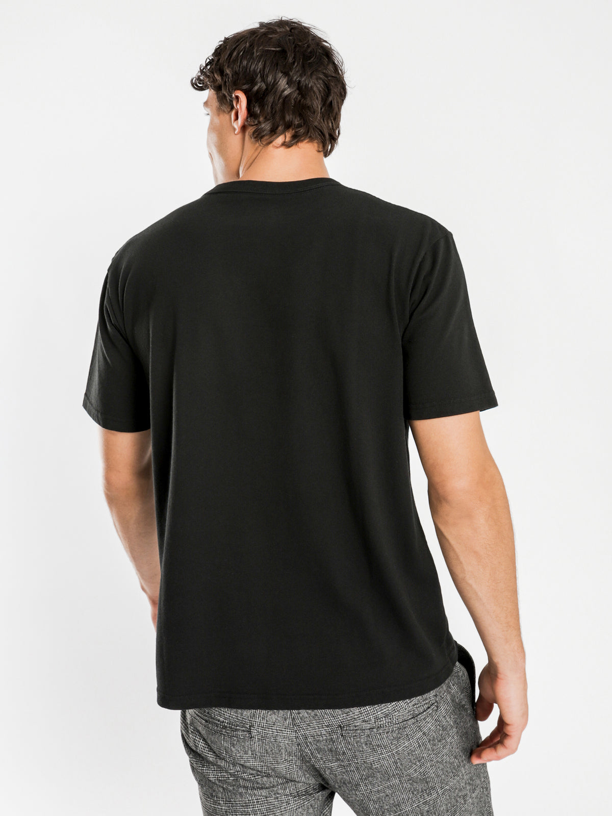Heavyweight Short Sleeve Crew T-Shirt in Black